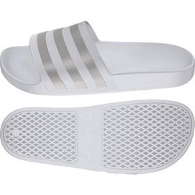 adidas Adilette Aqua Claquettes Homme, footwear white/platin metal/footwear white